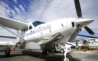 Sansa regional airline airplane
