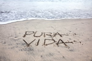 pura vida on the beach