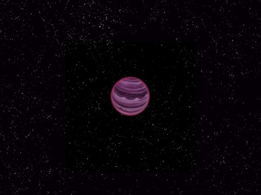 This image obtained October 9, 2013 courtesy of MPIA / V. Ch. Quetz shows an artist's conception of the planet PSO J318.5-22  in the constellation of Capricornus. Astronomers said October 9, 2013 they have found a lonely planet outside the solar system floating alone in space and not orbiting a star.  The gaseous exoplanet, dubbed PSO J318.5-22, is just 80 light years from Earth and has a mass only six times that of Jupiter.  Having formed 12 million years ago, the planet is considered a newborn among its peers. The planet is extremely cold and faint, about 100 billion times fainter in optical light than the planet Venus.     AFP PHOTO /  MPIA / V. Ch. Quetz