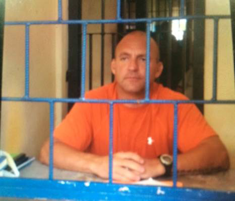 Patrick Hundley is behind bars in a Perez Zeledon prison.